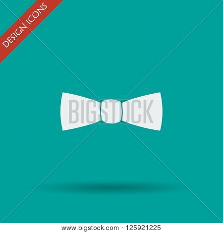 Bow tie icon vector. Flat design style eps 10