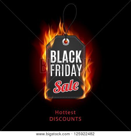 Fire label. Black Friday discounts increasing consumer growth.