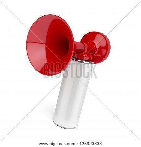 Air horn on white background, 3d illustration
