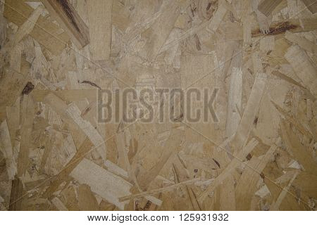 Texture background - wood-shaving plate. Good material for construction.