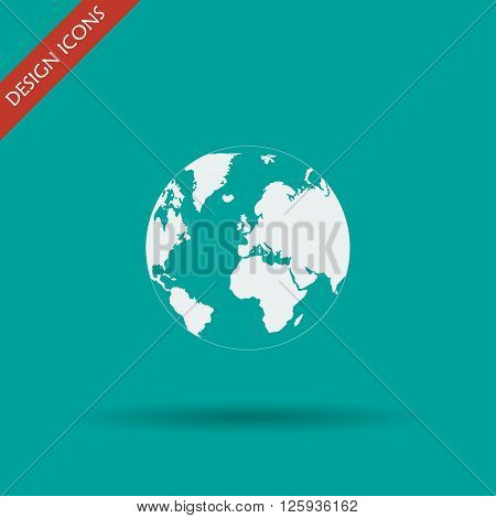 Pictograph of globe. Illustration vector EPS 10