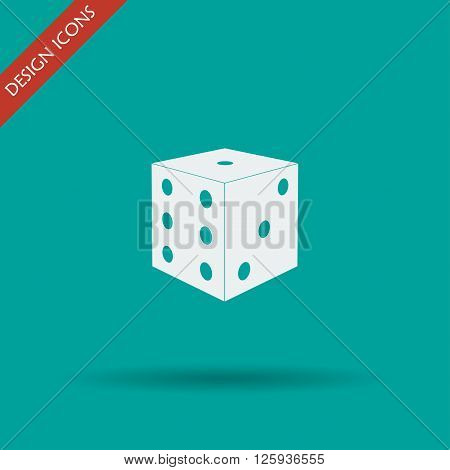 Dices sign icon. Casino game symbol. Flat design style eps 10