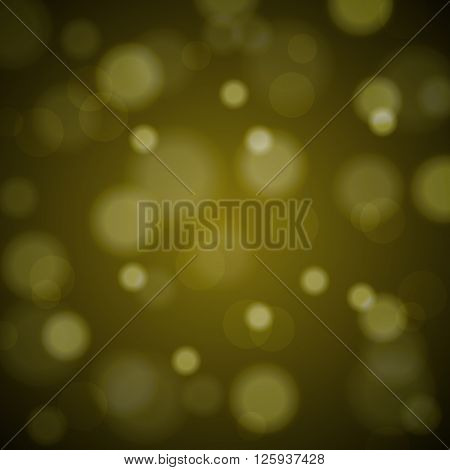 Abstract Blured Background Of Tender Golden Shiny Christmas Tree Decorations. Vector Illustration