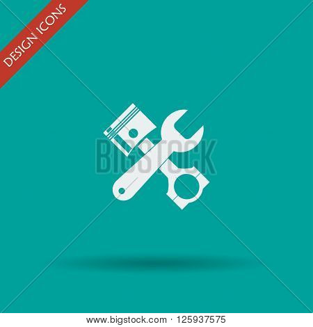 Service simbol. Repair singn. Vector flat Illustration