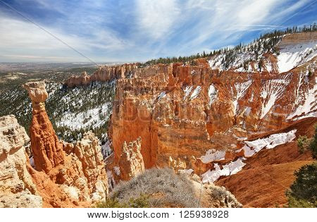 observation point in the Bryce Canyon Utah