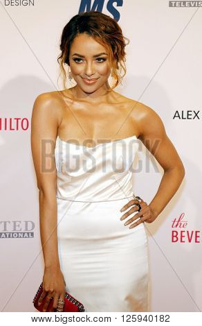 Kat Graham at the 23rd Annual Race To Erase MS Gala held at the Beverly Hilton Hotel in Beverly Hills, USA on April 15, 2016.