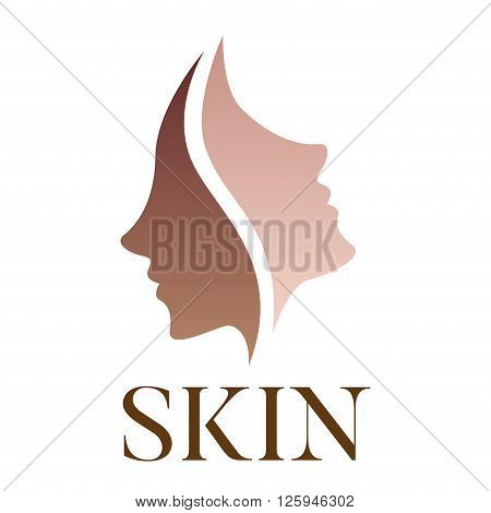 skin vector logo , dark skin turn to bright skin