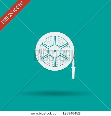 Fire hose reel Vector isolated illustrator EPS 10