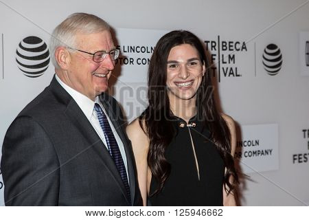 Manhattan, New York, USA. 15 April, 2016. Actress Eve Lindley attends with guest  the 'All We Had' Premiere during the 2016 Tribeca Film Festival at BMCC  on April 15, 2016 in New York City.