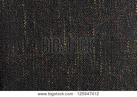 Background series : Closeup of dark rough textile texture