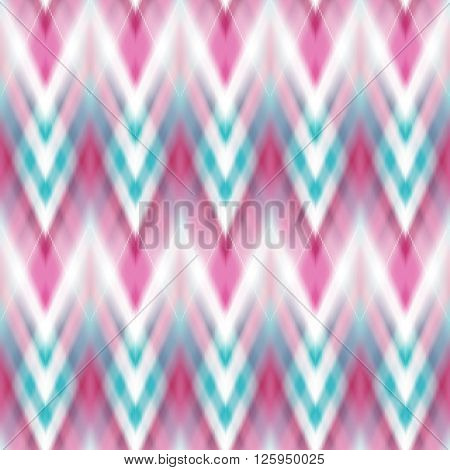 Vector seamless ikat ethnic pattern. Boho design. Ethnic Colored seamless zigzag patten