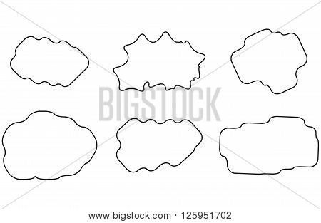 Cloud linear set. Web simplicity cloud server. Vector flat design illustration
