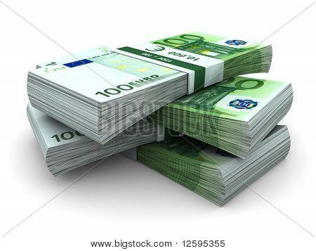Stack of 100 euros