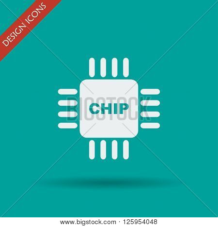 Vector chip icon isolated vector eps 10 illustration