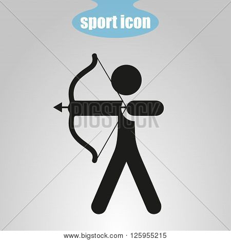 Icon of Archery on a gray background. Vector illustration
