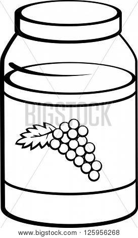 grape marmalade jar