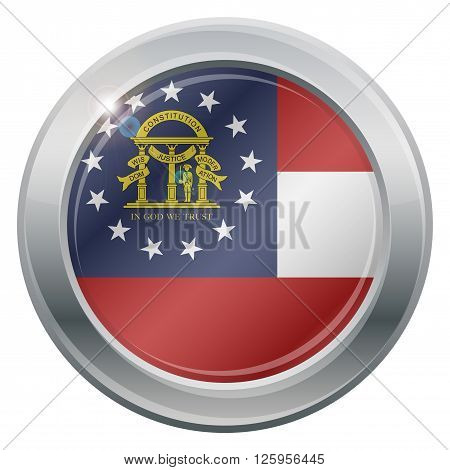 Georgia Flag Silver Icon