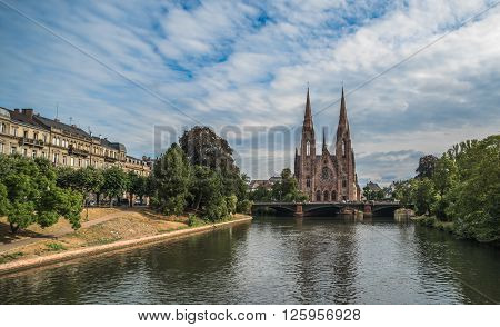Saint Paul Church In Strasbourg, Alsace, France