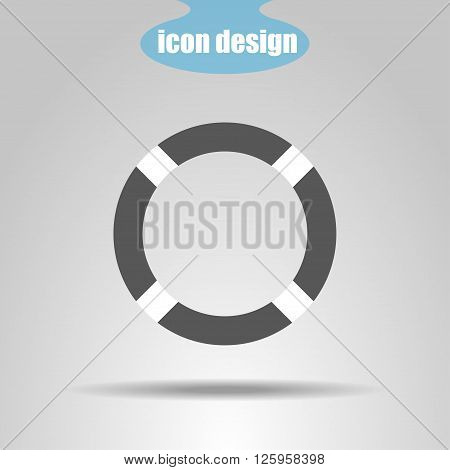 Lifebuoy icon on a gray background. Vector illustration