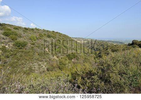 Chrysochou Valley below Kritou Terra overlooking Chrysohou Bay & Polis Cyprus