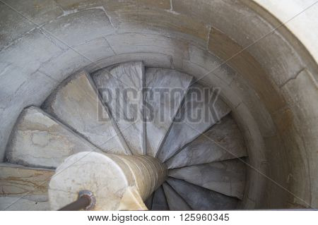 Old White Marble Staircase
