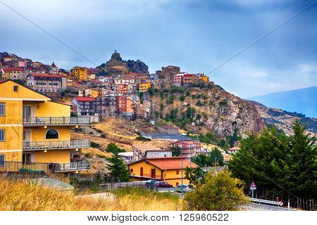 Cesaro town located high in the mountains in Sicily Italy