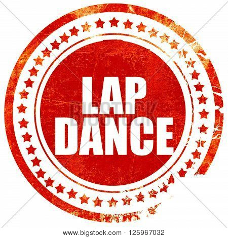 lap dance, isolated red stamp on a solid white background
