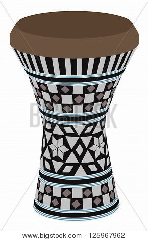 Egyptian musical instrument - darbuka vector - art