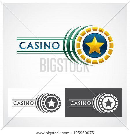 Casino Roulette Symbol Casino roulette symbol for design use.