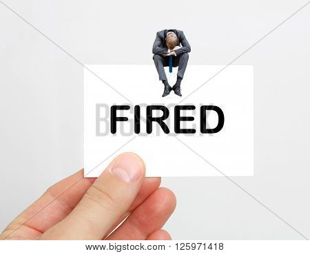 A fired businessman