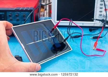 solar cell research in electronics laboratory