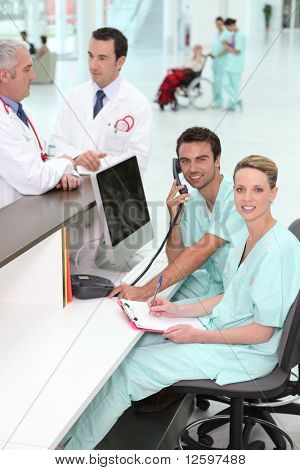 Medical staff in office