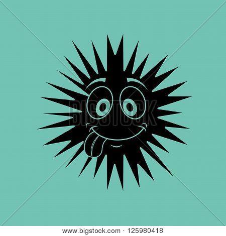 virus character design, vector illustration eps10 graphic