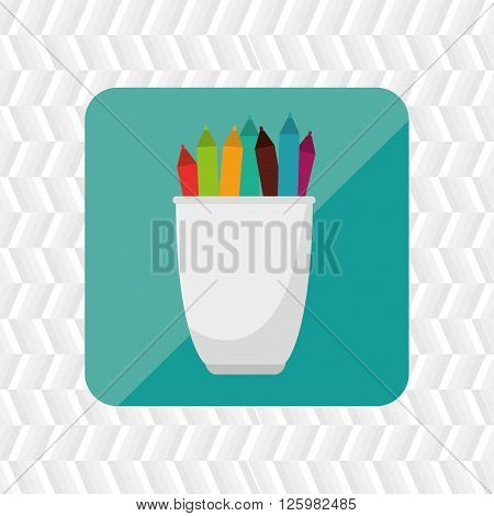 pencil holders design, vector illustration eps10 graphic