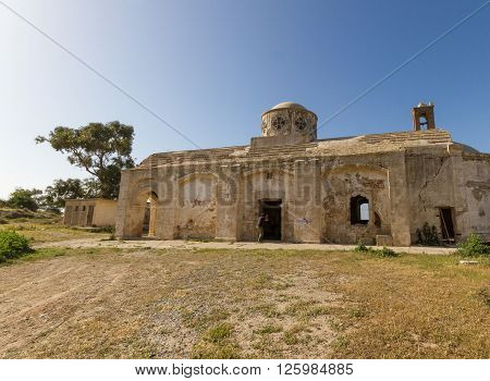 Derelict Agios Georgios Church In Davlos, Cyprus
