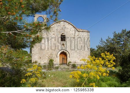 Remains of Panagia Kantariotissa Church in Kantara area in Pentadaktylos Cyprus