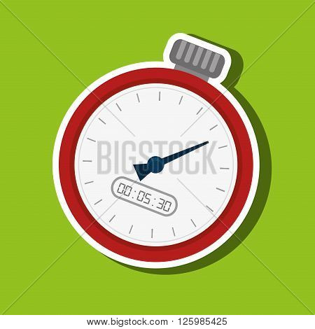 chronometer icons design, vector illustration eps10 graphic
