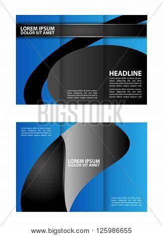 Vector modern tri-fold brochure design. tri fold business brochure template