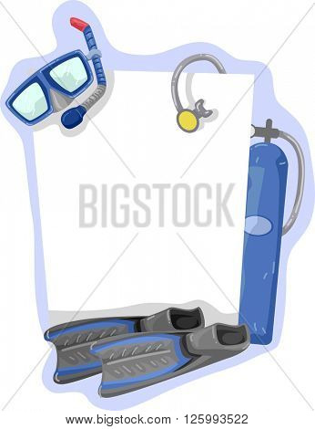 Illustration of a Frame Featuring Diving Gear