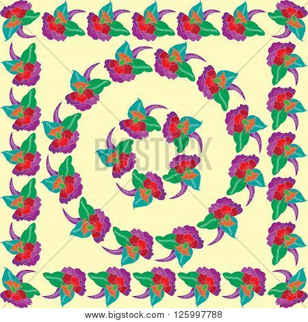 Vector background with floral motifs in East style. Vintage. Floral elements for design in Eastern style. Decorative pattern. floral decorations for backgrounds paper cards.