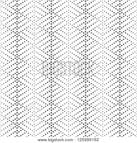 Vector seamless pattern. Modern stylish texture. Regularly repeating geometric tiles with small dots dotted lines rhombus. Abstract seamless background. Contemporary design