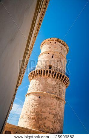 Tower Against Blue Sky