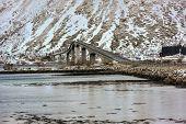 Gimsoystraumen Bridge, Lofoten Islands, Norway poster