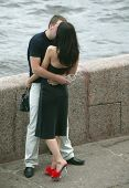pic of minion  - kissing couple on the bank of neva river - JPG