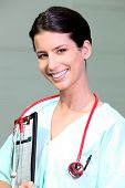 picture of medical assistant  - Portrait of a medical assistant - JPG