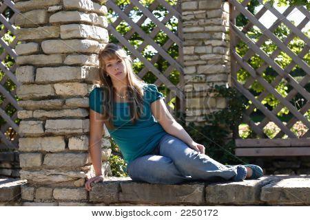 A Tired Looking Teenage Girl