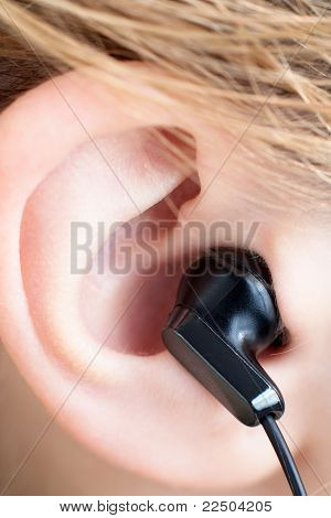 Ear with Earbud