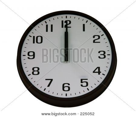 Midnight Clock Isolated