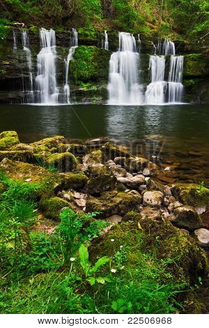 Spring Waterfall In The Brecon Beacons