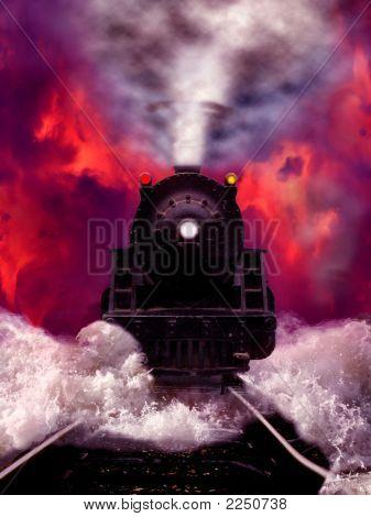 Trem a vapor